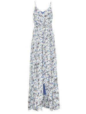 Синее льняное платье макси Jonathan Simkhai