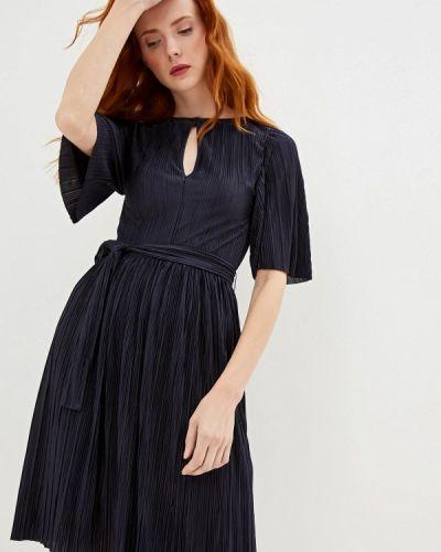 Повседневное платье осеннее синее Max&co