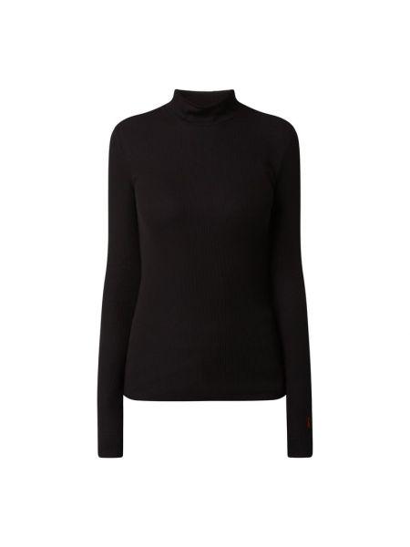 Czarny sweter z kołnierzem z wiskozy Hugo