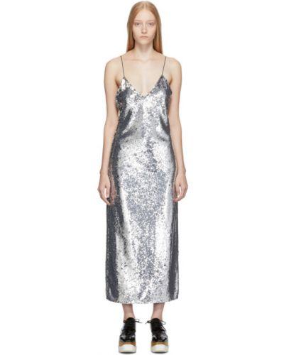 Платье миди с пайетками макси Stella Mccartney