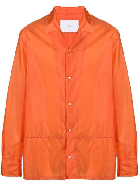 Pomarańczowa klasyczna klasyczna koszula z długimi rękawami Goodfight