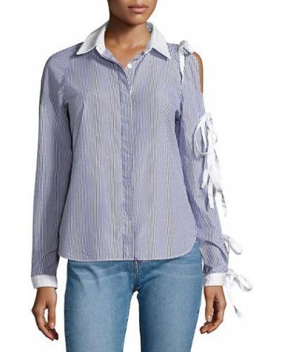 Хлопковая белая рубашка с длинными рукавами Sandy Liang