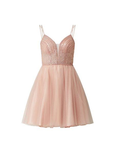Sukienka koktajlowa tiulowa - różowa Swing
