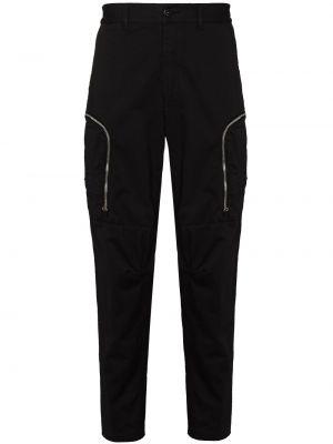 Зауженные брюки карго - черные Stone Island Shadow Project