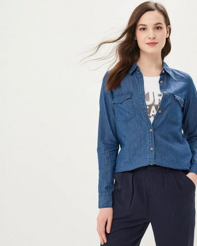 Синяя джинсовая рубашка с запахом Tiffosi