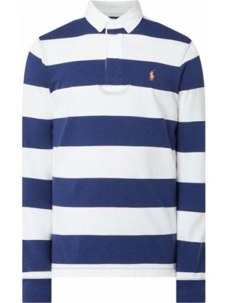 Bawełna niebieski bawełna z rękawami t-shirt Polo Ralph Lauren
