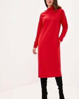 Платье платье-толстовка красный Zarus`