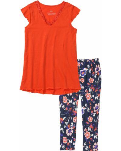 Пижама с короткими рукавами с рисунком Bonprix