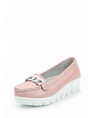 Розовые кожаные мокасины Zenden Comfort