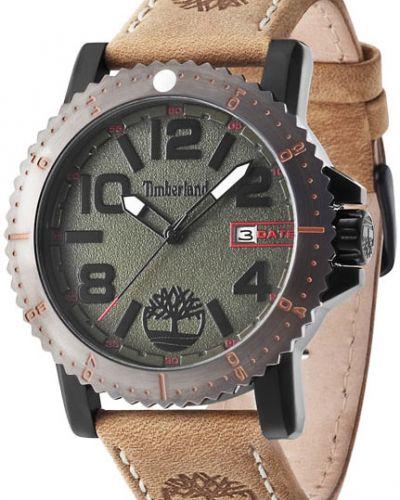 Часы водонепроницаемые с кожаным ремешком зеленый Timberland
