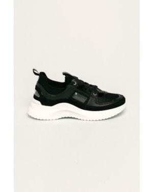 Buty na obcasie na pięcie ażurowy Calvin Klein