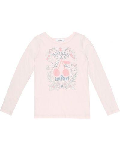 Ватная хлопковая розовая рубашка Bonpoint