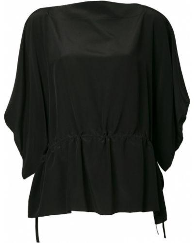 Блузка шелковая с драпировкой Nehera
