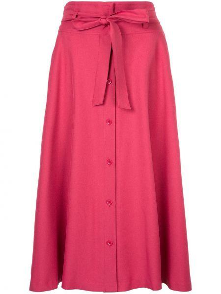 Розовая юбка миди в рубчик Guild Prime