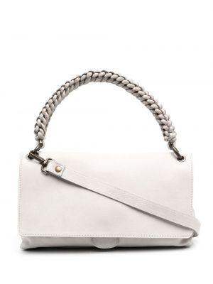 Плетеная серая кожаная сумка-тоут Officine Creative