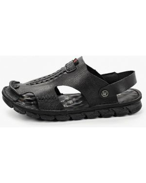 Черные кожаные сандалии Alessio Nesca