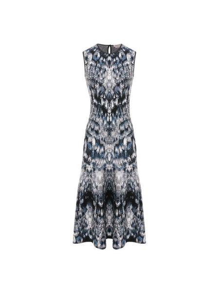 Платье шелковое из вискозы Alexander Mcqueen