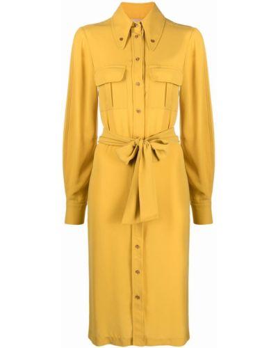Żółta klasyczna sukienka Blanca Vita
