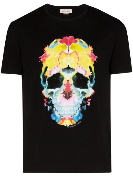 Koszula krótkie z krótkim rękawem z nadrukiem z czaszkami Alexander Mcqueen