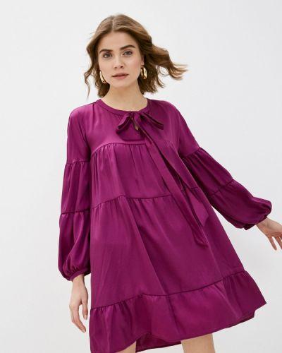 Прямое фиолетовое платье Please