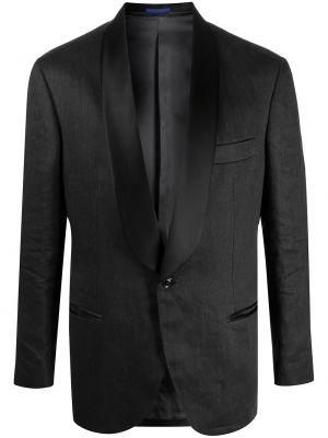 Czarny wyposażone bawełna klasyczny blezer Brunello Cucinelli
