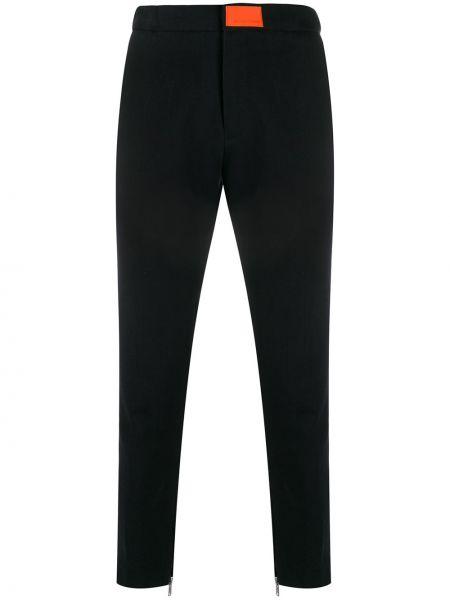 Зауженные черные джинсы-скинни из микрофибры с воротником Not Guilty Homme