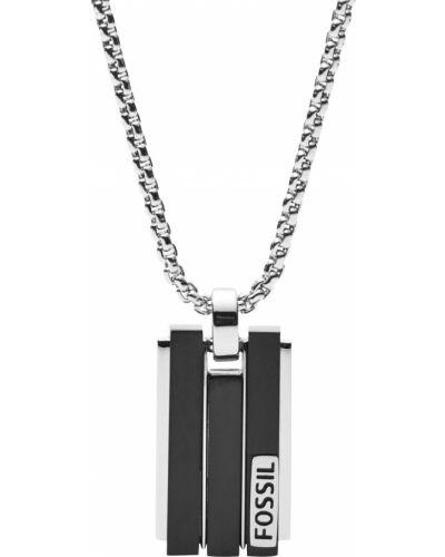 Серебряное ожерелье с подвесками с декоративной отделкой Fossil