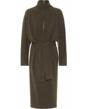 Платье с поясом из штапеля вязаное Tom Ford