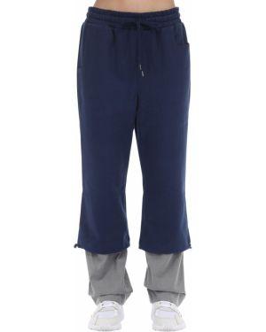 Spodnie na gumce z kieszeniami z łatami Ader Error