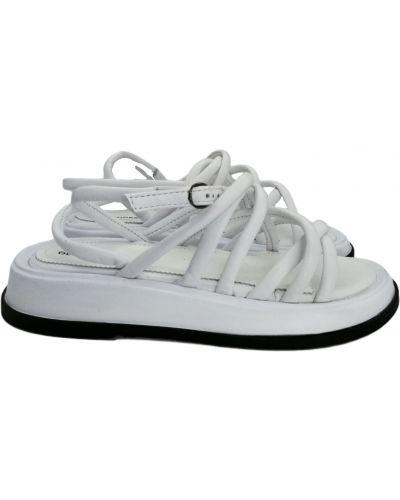Кожаные сандалии - белые Olli