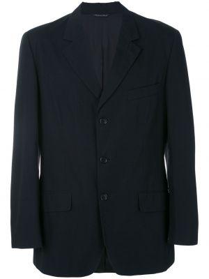 Черный классический пиджак с манжетами Moschino Pre-owned