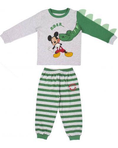 Piżama bawełniana - zielona Mickey