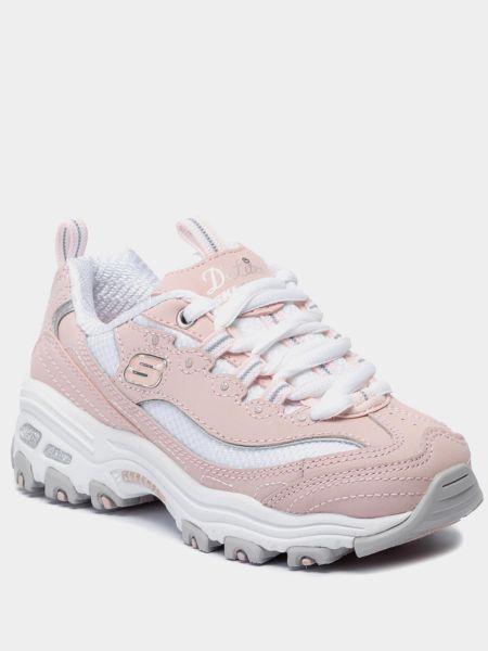 Кожаные кроссовки - белые Skechers