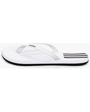 Сланцы белые из искусственной кожи Adidas