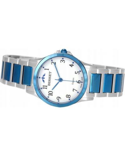 Biały klasyczny zegarek Bisset