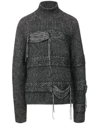 Шерстяной черный свитер Mrz