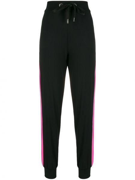 Черные спортивные брюки с завязками с поясом с высокой посадкой No Ka 'oi