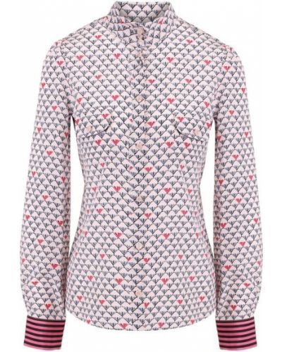 Блузка с воротником-стойкой шелковая Emporio Armani