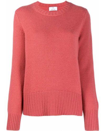 Кашемировый розовый джемпер с круглым вырезом с длинными рукавами Allude