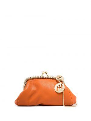 Pomarańczowy portfel skórzany Rosantica