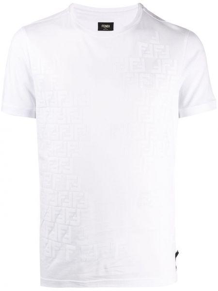 Koszula krótkie z krótkim rękawem prosto codziennie Fendi