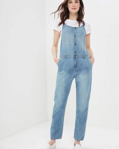 Голубой джинсовый комбинезон Roxy