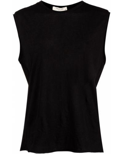Czarny top bez rękawów bawełniany Rag & Bone