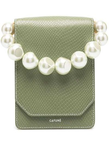 Zielona torebka skórzana Cafuné