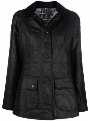 Длинная куртка - черная Barbour