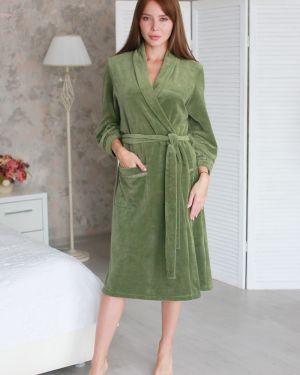 Домашний велюровый халат с поясом Lika Dress