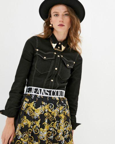 Черная джинсовая рубашка Versace Jeans Couture