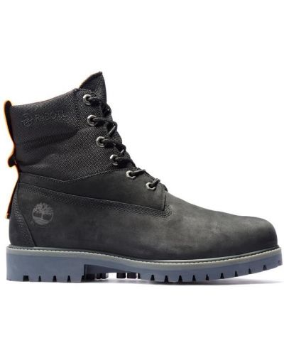 Черные кожаные ботинки трекинговые с подкладкой Timberland