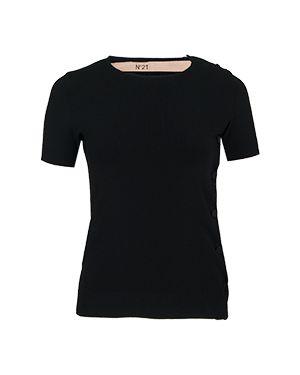 Футбольная черная футболка No.21