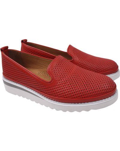 Кожаные туфли - красные Aquamarin